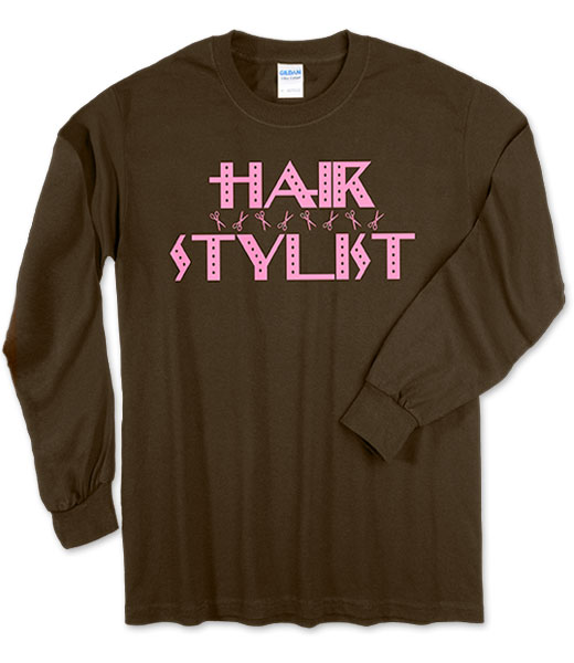 Photo of Long Sleeve T-Shirt for Hairstylists.