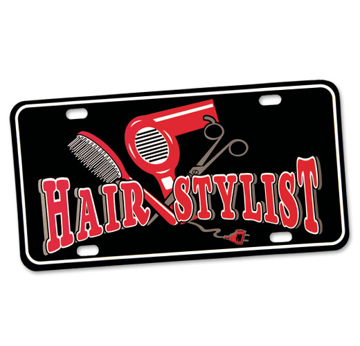 Photo of License Plate for Hairstylists.