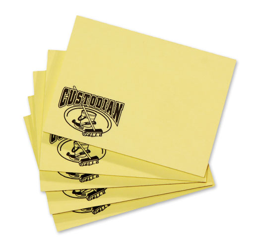 Photo of Sticky Notes for School Custodians.